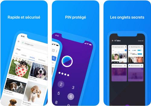 Capture d'écran Keepsafe Browser iOS