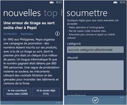 Capture d'écran Se Coucher Moins Bête Windows Phone