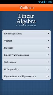 Capture d'écran Linear Algebra Course App