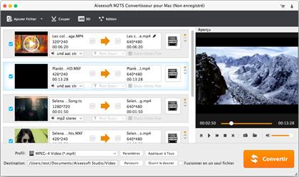 Capture d'écran Aiseesoft M2TS Convertisseur pour Mac