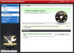 Capture d'écran System Mechanic Pro
