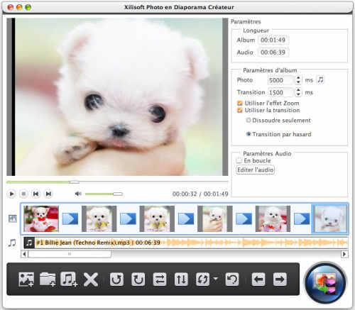 Capture d'écran Xilisoft Photo en Diaporama Créateur pour Mac