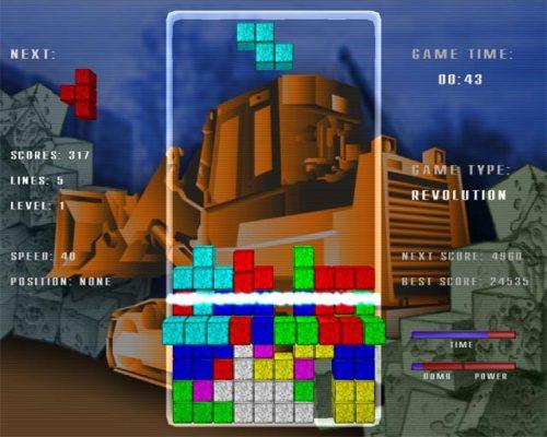 Capture d'écran Tetris Revolution