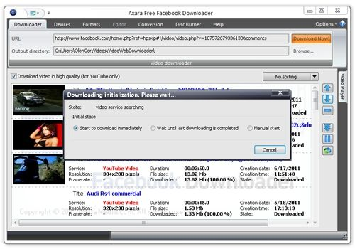 Capture d'écran FREE Facebook Downloader