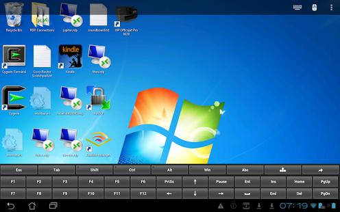 Capture d'écran Remote Desktop Client