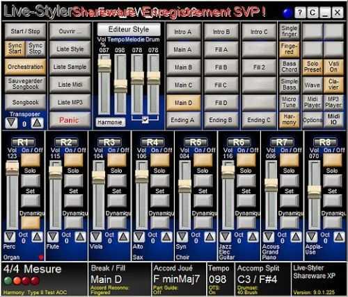 Capture d'écran Live Styler