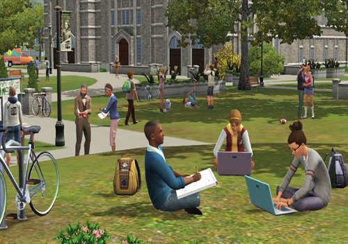 Capture d'écran Les Sims 3 University