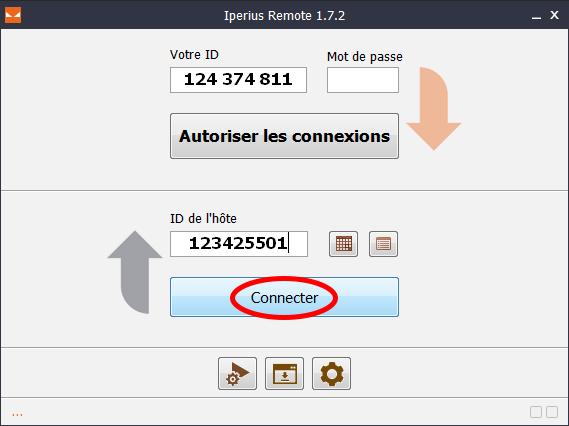 Capture d'écran Iperius Remote