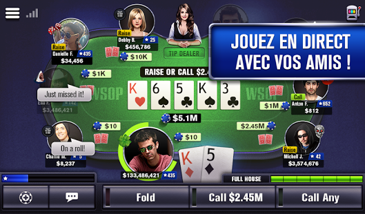 Capture d'écran World Series of Poker Android