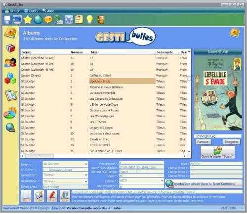 Capture d'écran GestiBulles