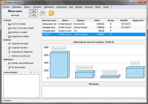 Capture d'écran MyBank