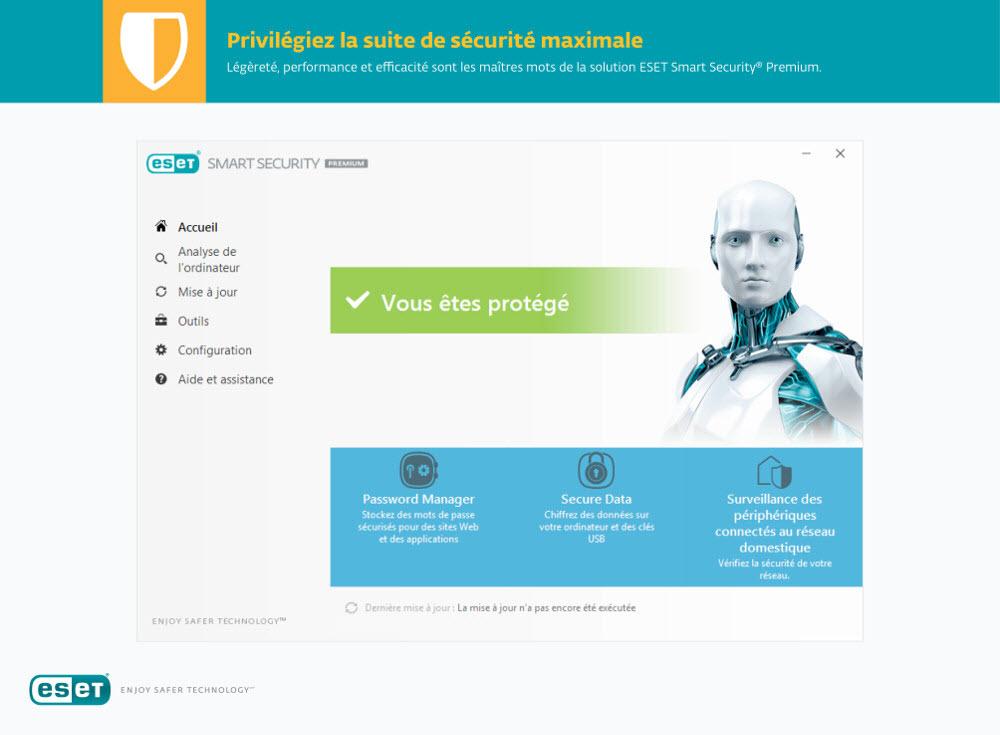 Capture d'écran ESET Smart Security Premium 2021