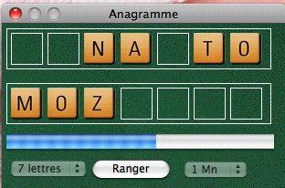 Capture d'écran Anagramme Linux