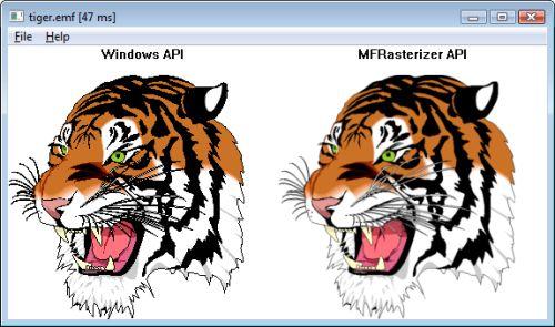 Capture d'écran MFRasterizer