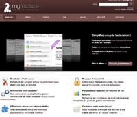 Capture d'écran MyFacture – Facturation en ligne