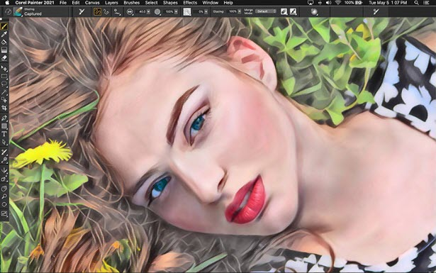 Capture d'écran Corel Painter 2021 Mac