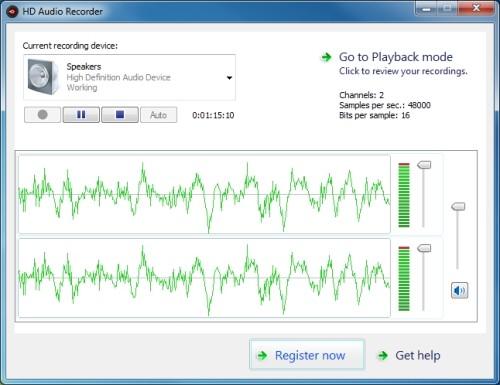 Capture d'écran HD Audio Recorder