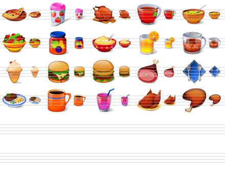 Capture d'écran Large Buffet Icons