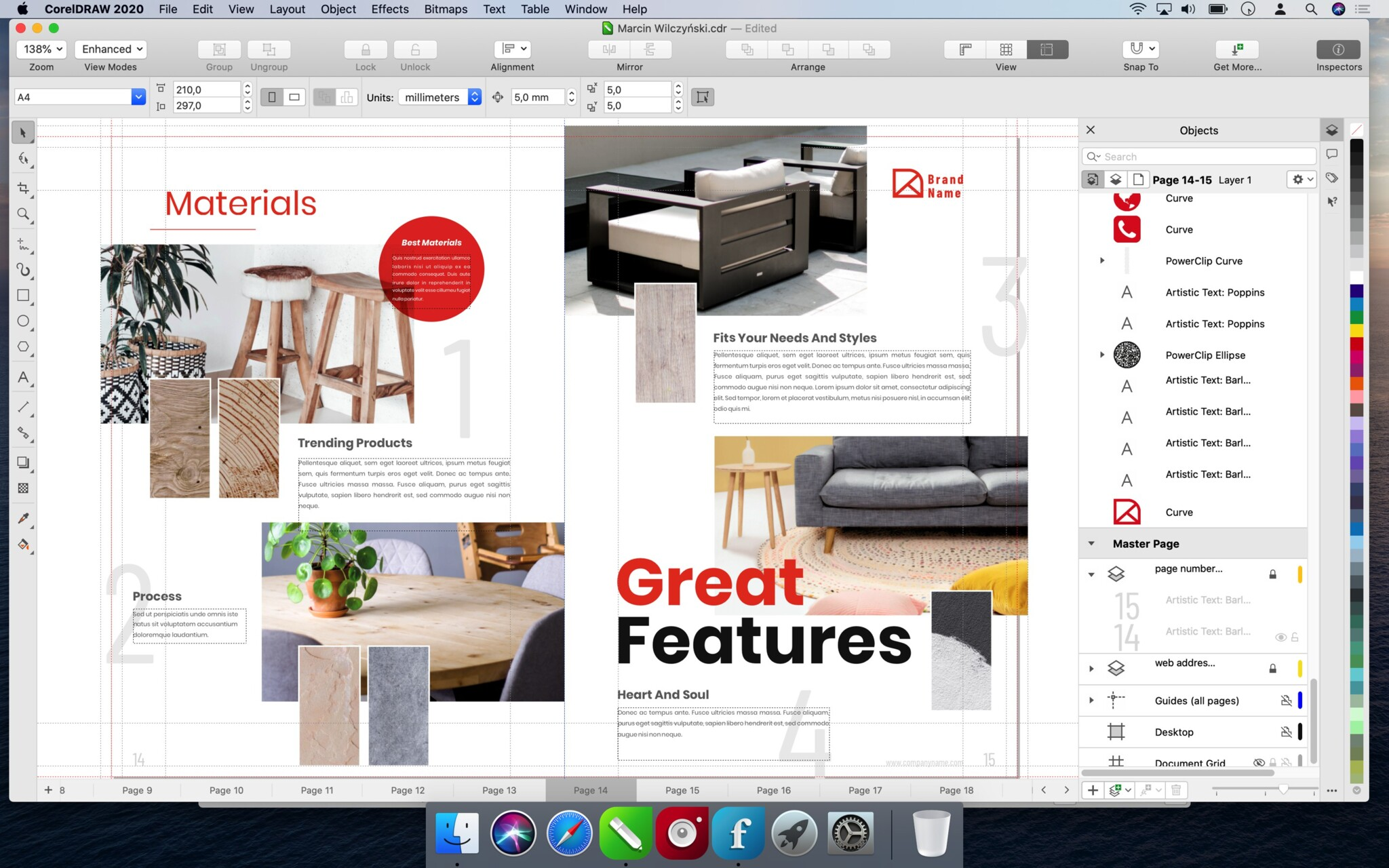 Capture d'écran CorelDRAW Graphics Suite 2020 macOS