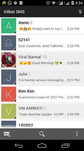 Capture d'écran Nexus 5 Messagerie SMS