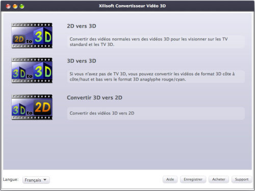 Capture d'écran Xilisoft Convertisseur Vidéo 3D pour Mac