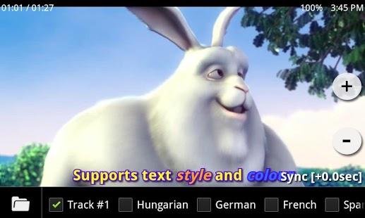 Capture d'écran MX Player