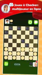 Capture d'écran Dames LIVE Multiplayer