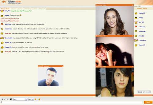 Capture d'écran ASP.NET Ajax Chat