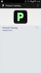 Capture d'écran PRINCE2 Sample Exams Pro
