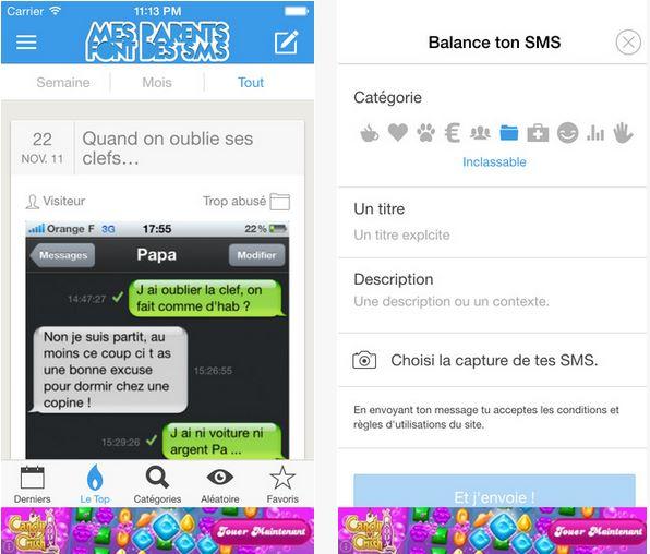 Capture d'écran Mes parents font des SMS iOS