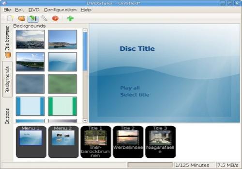 Capture d'écran DVDStyler