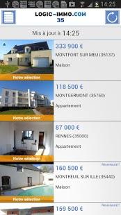 Capture d'écran Logic-immo.com Bretagne