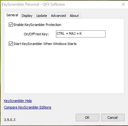Capture d'écran KeyScrambler Personal