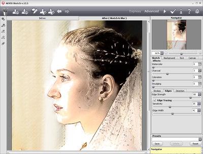 Capture d'écran AKVIS Sketch