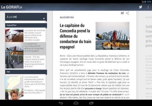 Capture d'écran Le Gorafi Android