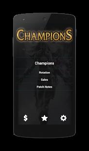 Capture d'écran Champions of League of Legends