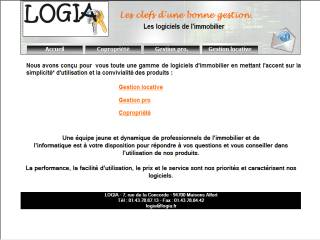 Capture d'écran LOGIA GESTION IMMOBILIERE