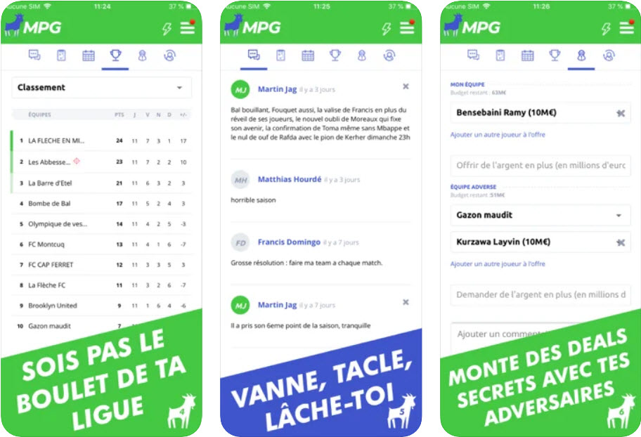 Capture d'écran MPG Football – Mon Petit Gazon iOS