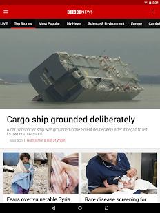 Capture d'écran BBC News