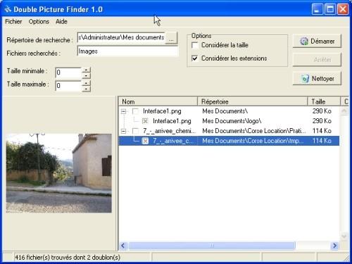 Capture d'écran Double Finder