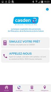 Capture d'écran CASDEN Banque Populaire