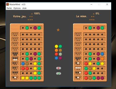 Capture d'écran MasterMind v3.5