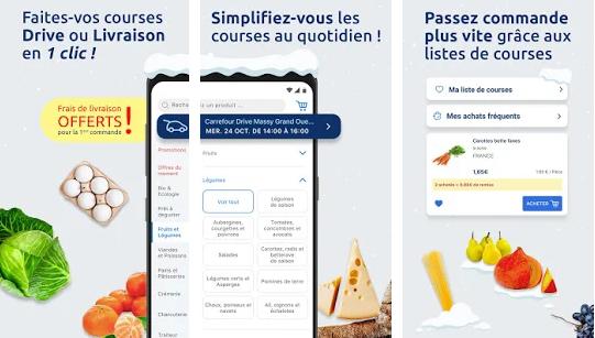 Capture d'écran Carrefour Drive iOS