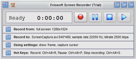 Capture d'écran Eviosoft Screen Recorder