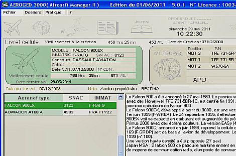 Capture d'écran AEROGED 3000
