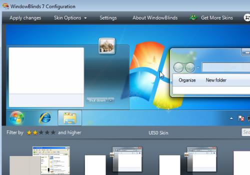 Capture d'écran WindowBlinds Beta