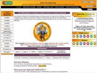 Capture d'écran EVALUTEL Algèbre 1
