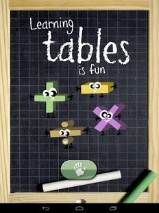 Capture d'écran Apprendre les tables
