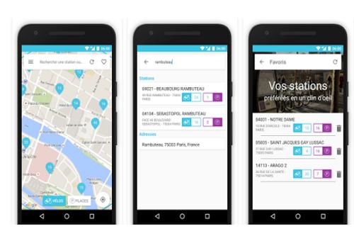 Capture d'écran Velib' iOS