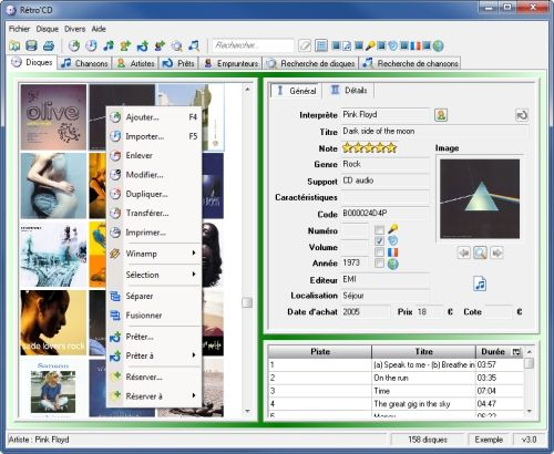 Capture d'écran Retro'Cd
